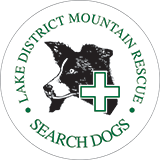 Lake District Mountain Rescue Search Dogs Retina Logo